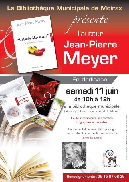 RENCONTRE D'AUTEUR - samedi 11 juin - Bibliothèque Municipale de Moirax - Lot & Garonne