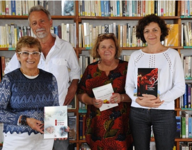 Patricia Monteil et toute l'équipe de la Bibliothèque de Moirax accueillaient Jean-Pierre Meyer pour des échanges à bâtons rompus autour de ses romans.