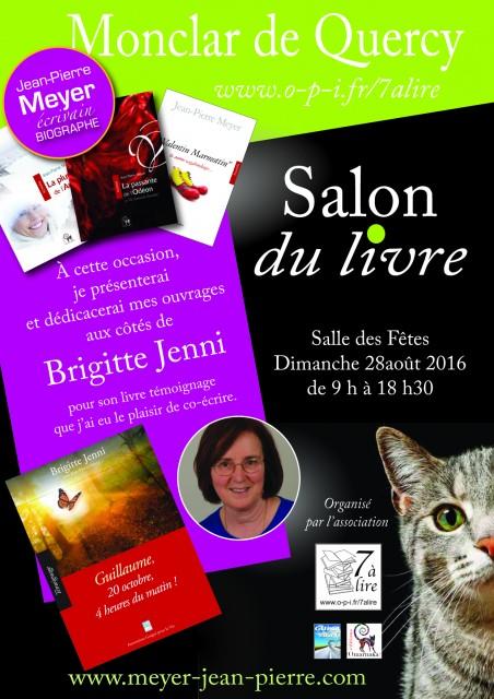 Retrouvons-nous au Salon du Livre de Monclar de Quercy...